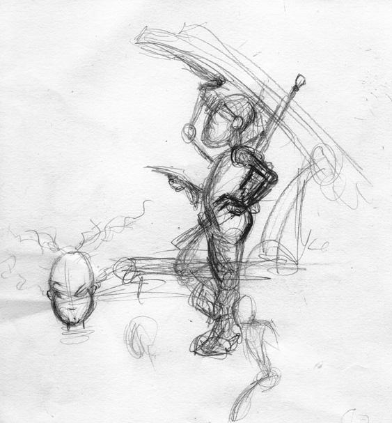"""Soldier Girl"" Thumbnail Sketch"