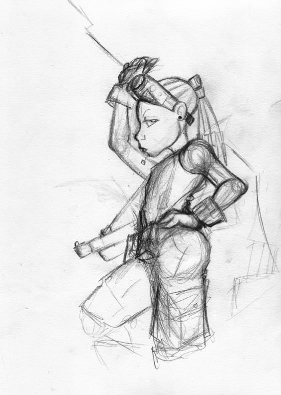 Soldier Girl detail