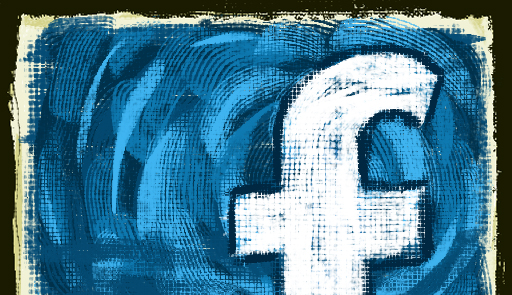 facebook logo painted
